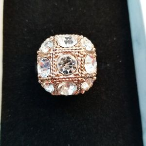 Costume Jewelry Faux Icy Large Fancy Bling Ring